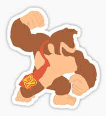Simplistic Donkey Kong Sticker