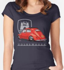 Oval Ragtop Bug Women's Fitted Scoop T-Shirt