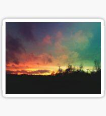 Northern Ireland Farm Sunset Sticker