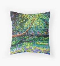 The Hitching Post by John E Metcalfe Throw Pillow