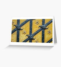 The yellow pattern Greeting Card