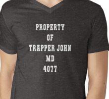 Property of Trapper Mens V-Neck T-Shirt