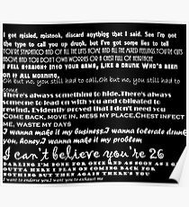 Catfish&the bottlemen lyrics Poster