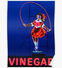 Neon Sign - Vinegar Girl Jump Rope Poster