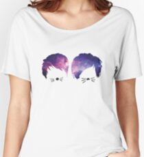 Dan and Phil Galaxy Women's Relaxed Fit T-Shirt