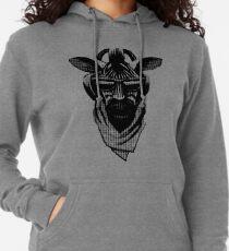 Cool Zebra Kopf mit Kopfhörern (schwarz und weiß) Leichter Hoodie