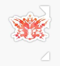 Pikachu Rorschach Test (Red) Sticker