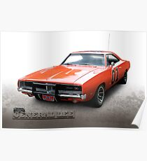 Dukes of Hazzard General Lee - 1969 Dodge Charger Poster