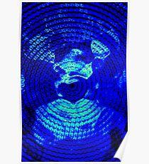 Blue Circles Poster