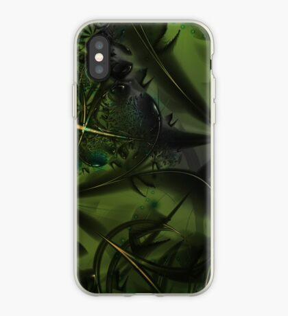 Green Forest Art iPhone Case