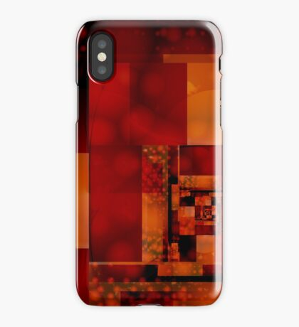City Abstract - Fire Red iPhone Case