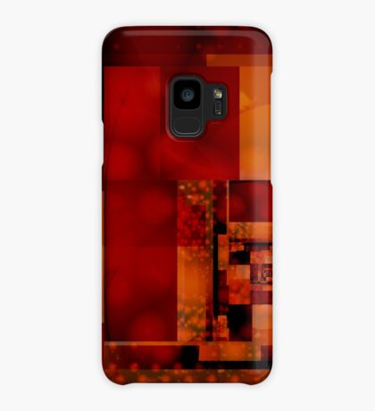 City Abstract - Fire Red Case/Skin for Samsung Galaxy