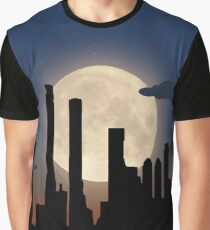City Skyline - Night TIme Graphic T-Shirt