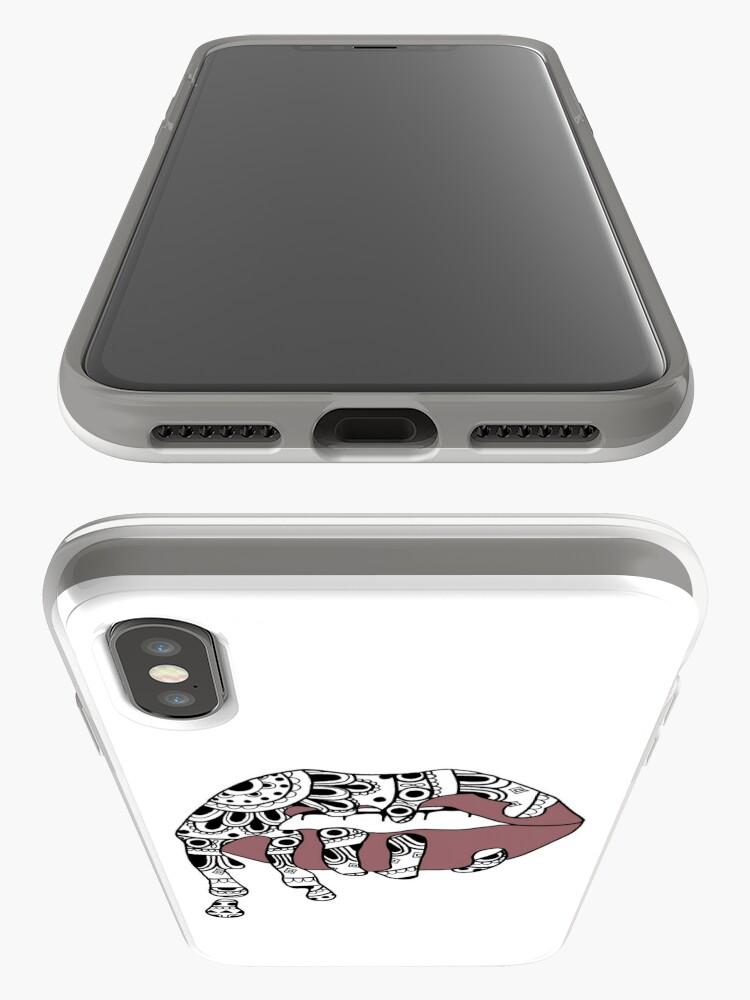 Alternate view of Mandala Lip iPhone Case & Cover