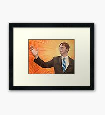 Dwight  Schrute The Messiah Framed Print