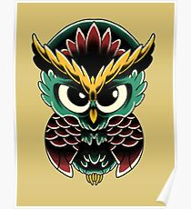 Neo-Traditional Owl  Poster