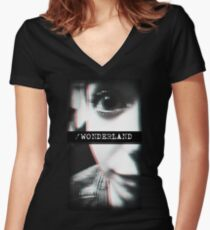 Trip to Wonderland Women's Fitted V-Neck T-Shirt