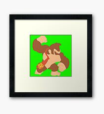 Simplistic Donkey Kong Framed Print