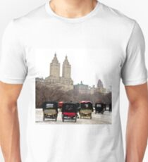 Bicycle carriages in Central Park, New York City Unisex T-Shirt