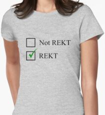 Rekt Checkbox Womens Fitted T-Shirt