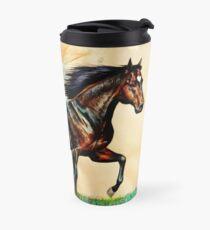 Prancing Bay Horse Travel Mug
