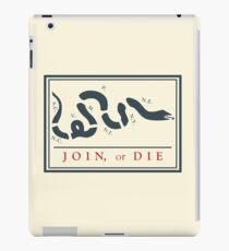 Ben Franklin Join oder sterben Cartoon Poster iPad-Hülle & Klebefolie