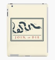 Ben Franklin Join or Die Cartoon Poster iPad Case/Skin