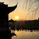Sunset, Three Pools Mirroring the Moon, Hangzhou, China by Simone Maynard