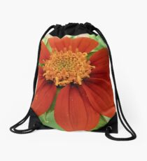 Mexican Sunflower Drawstring Bag
