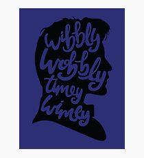 Wibbly Wobbly Timey Wimey Photographic Print