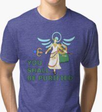 PALUTENA   Super Smash Taunts   You shall be purified Tri-blend T-Shirt