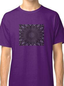 Eggplant and Aubergine Floral Design Classic T-Shirt