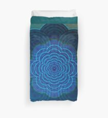 Circles Galore - Psychadelic Ice Blue, Dark Blue and Teal Duvet Cover