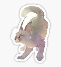 Gray Caracal Sticker