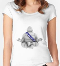 Peaceful Michelin Man Women's Fitted Scoop T-Shirt
