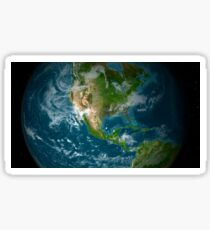 View of Central and North America. Sticker