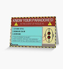 Know your paradoxes! Greeting Card