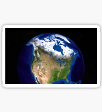 The Blue Marble Next Generation Earth showing the United States, Canada and Greenland. Sticker