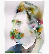 FRIEDRICH NIETZSCHE watercolor portrait.8 Poster