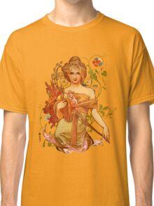 Mucha Floral Classic T-Shirt