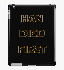 Star Wars - Han Died First iPad Case/Skin
