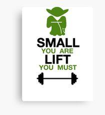 Yoda Lifting Inspiration  Canvas Print