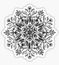 Thrive - Monochrome Mandala Sticker