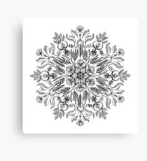 Thrive - Monochrome Mandala Canvas Print