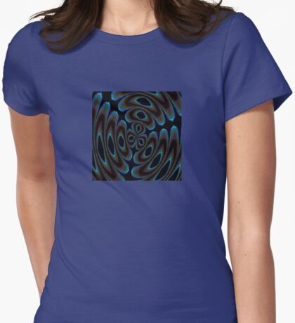 Blue and Brown Contemporary Abstract T-Shirt