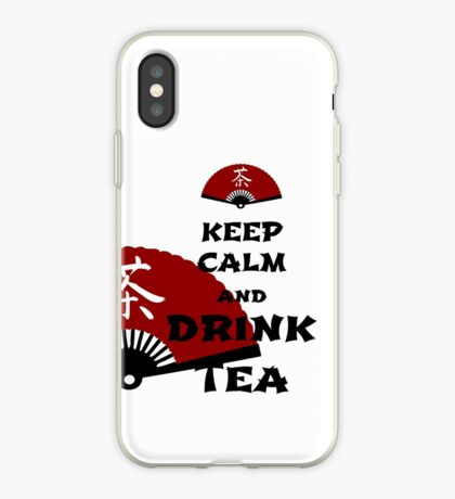 keep calm and drink tea - asia edition iPhone-Hülle & Cover
