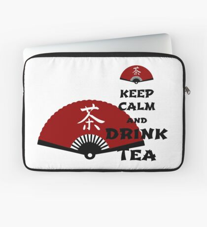 keep calm and drink tea - asia edition Laptoptasche
