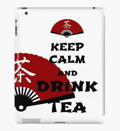 keep calm and drink tea - asia edition iPad-Hülle & Skin