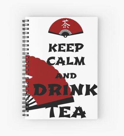 keep calm and drink tea - asia edition Spiralblock