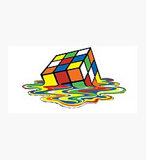 Melting Rubix Photographic Print